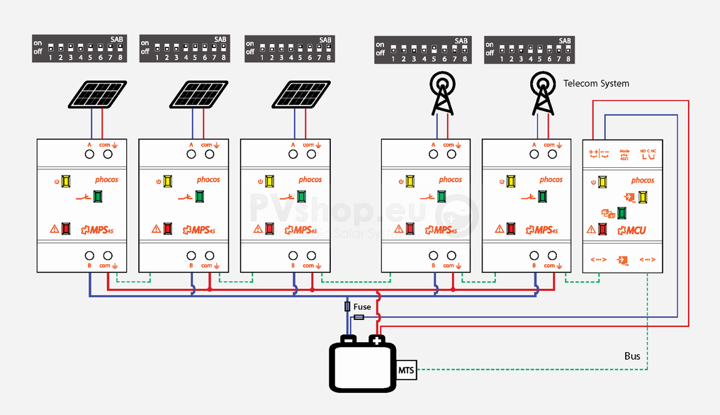 Pv solar system diagrams pv solar diagram of phocos mppt mps mcu mts components for 12 cheapraybanclubmaster Image collections