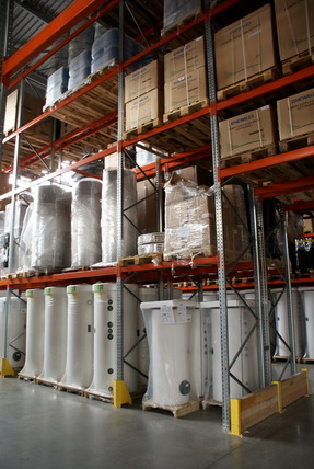 Warehouse/Logistics for solar collectors and thermal solar systems
