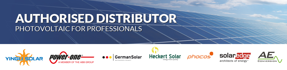 Authorised Distributor - YINGLI SOLAR, ABB POWER-ONE, PHOCOS, GERMAN SOLAR, SOLAREDGE, HECKERT, AECONVERSION, INVOLAR