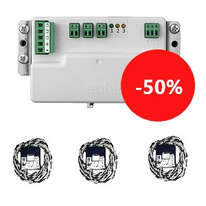 SolarEdge Energy Meter with Modbus Connection with SolarEdge Current Transformers (3 pcs.)